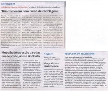 Presidente do SIPESP da entrevista ao Jornal Diário de São Paulo no dia 23/07