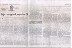 Matéria de Arnaldo Jabor no Jornal Estado de São Paulo de hoje.